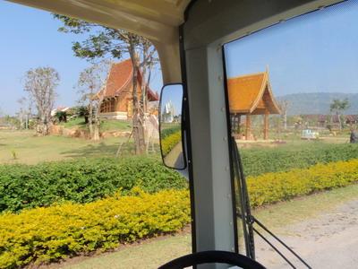 บ้านไร่ปลายตะวัน ถ่ายจากรถนั่งไฟฟ้า